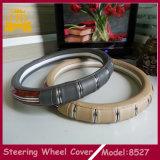 Coperchio molto popolare del volante dell'automobile della barra di PU+Wooden+Silver