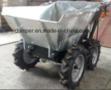 Camion del letame dello scaricatore della benna di Galvnazing del TUFFO caldo mini
