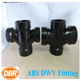 2 * 2 * 1-1 / 2 * 1-1 / 2 pouces Taille ABS Dwv Fitting Reducing Double Sanitary Tee