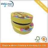 Caja de regalo de impresión de cartón redonda personalizada (QYZ016)