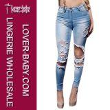 Джинсыы женщин джинсовой ткани способа горячие (L450-1)