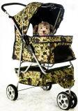 Chariot à chien de chat de porteur de camp de chariot de poussette d'animal familier