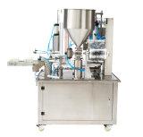 Relleno de la taza del agua del papel de aluminio y máquina puros del lacre