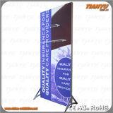 Talla modificada para requisitos particulares que hace publicidad del marco de aluminio de la materia textil de la visualización