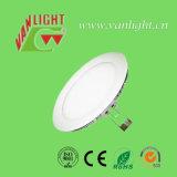 12W luz del panel delgada redonda del techo LED