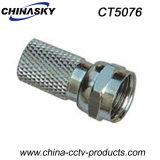 CCTV Torcer-en el conectador masculino del cable coaxial F (CT5076)