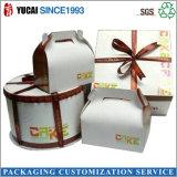 Rectángulo de empaquetado al por mayor del rectángulo de regalo del papel de rectángulo de torta del rectángulo