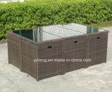 Jeu de café extérieur plié de meubles de jardin avec le restaurant Chair&Table de Tableau de Chair&