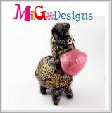 OEM animal de cerámica de la batería guarra de la decoración del regalo más nuevo del arte