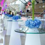 플라스틱 RGB 다채로운 바 가구 LED 옥외 테이블