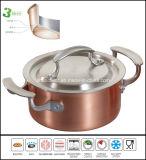 鍋を調理する3つの層銅の標準的な鍋