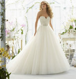 A Line Sweetheart Tulle Crystal Beading Wedding Dresses