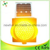 voyant d'alarme solaire de clignotement jaune de circulation de 300mm DEL