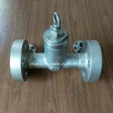 2500lb Válvula de retención de pistón de brida de sello de presión de acero inoxidable forjado