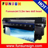 強いBody Funsunjet Fs3202k 3.2m/10FT Dx5 Head 1440dpi Fast Printing SpeedのFlex Banner Adhesive Vinyl Sticker Printer