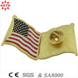 Kundenspezifisches Amerika Metal Enamel Flag Badge mit Pin