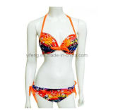 Heiße Form-reizvolle Bikini-Dame Printed Swimwear