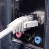 UTP Cat5e angeschwemmtes kupfernes Steckschnür-Kabel-Weiß des Ethernet-24AWG