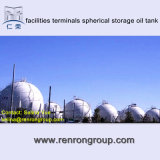 Tank van de Olie van de Opslag van de Terminals van de Faciliteiten van de opslag Sferische t-42
