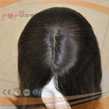 Peluca llena de las mujeres del pelo humano del cordón del color oscuro