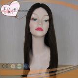 Parrucca umana piena delle donne di colore di Omber dei capelli del Virgin nessun scoppi