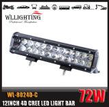 """4D obiettivo 13.5 """" 72W fuori dalla barra chiara della strada LED con CREE LED"""