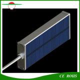 De zonne Flexibele Straatlantaarn van de Helderheid van de Lamp van de Legering van het Aluminium 48LED van de Tuin van de Sensor van de Radar van Lichten Lichte IP65 Openlucht Zonne Hoge