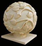 Sandstein geschnitzte Lampen-Laterne des Skulptur-Kugel-Audiolautsprecher-LED für Garten-Dekoration