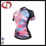 Sportswear impresso costume da alta qualidade que dá um ciclo Jersey para mulheres