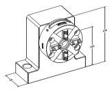 Manual de CNC Vertical Chuck com placa de base