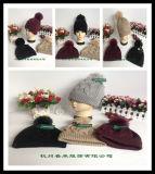 Sombrero de acrílico unisex de la gorrita tejida del Knit del muchacho de la manera de la venta al por mayor clásica del estilo nuevo y de las lanas de las muchachas