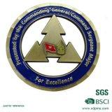 Pièces en argent personnalisées d'antiquité de souvenir en métal (HST-SCS-108)
