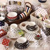 tazza di ceramica 11oz con il disegno della decalcomania dei cuori