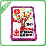 Étiquette tissée par souvenir promotionnel de décoration de cadeau