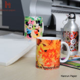 A4, Mouse Pad, Mug, Hard Surface 및 Gifts를 위한 A3 Sheet Size 반대로 Curl 100GSM Sublimation Transfer Paper