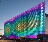 Fachada al aire libre impermeable de los medios del edificio de la cartelera del alto brillo LED
