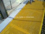 Stoßfeste FRP GRP Fiberglas-Fußboden-Vergitterung
