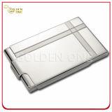 ステンレス鋼カバーピンクの革商号のカードケース