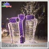 방수 LED 3D 선물 상자 주제 결혼식 훈장 크리스마스 불빛