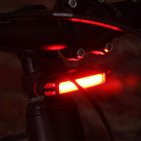 Bicicleta que monta la luz trasera recargable roja delantera trasera de la cola de la bici del blanco LED IP68 de la luz 120lm de la lámpara