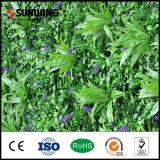 Pareti artificiali verdi Anti-UV dell'erba della decorazione della fabbrica della Cina con i fiori