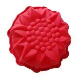 케이크를 위한 해바라기 꽃 케이크 형 DIY 실리콘 케이크 형 굽기 공구