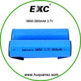18650 célula de batería protegida recargable de la batería 8650 de 2600mAh 3.7V 2600mAh