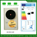 Allemagne-25c Chauffage de plancher d'hiver100 ~ 350sq Meter Room 12kw / 19kw / 35kw High-Cop Split Evi Air à eau Pompe à chaleur Réfrigérant R410A