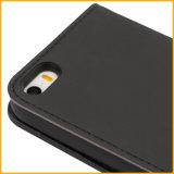 Caja de cuero del teléfono móvil de la célula de la PU de la Tarjeta-Ranura magnética