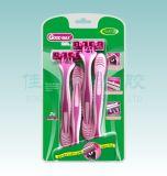 Preiswertes wegwerfbares Rasiermesser-Zwilling-Blatt, das Rasiermesser (SL-3035TL, rasiert)