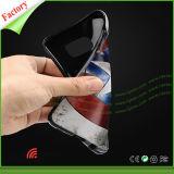 caja grabada 3D del teléfono del modelo TPU para la galaxia S7 de Samsung
