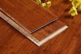 Karbonisierter ausgeführter Bambusbodenbelag gebürstet
