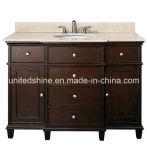 Vanité en bois de salle de bains de modèle de l'Amérique (HY-8001)