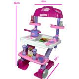Het hete Vastgestelde Stuk speelgoed van de Keuken van de Jonge geitjes van de Verkoop met Licht en Muziek